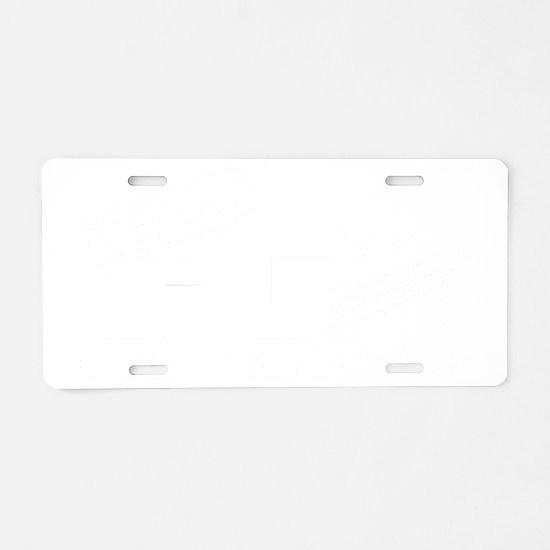 Vegas FJ Cruisers - White L Aluminum License Plate