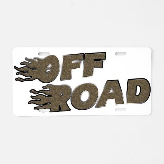 Off Road Aluminum License Plate