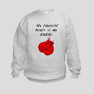 My Favorite Boxer Is My Daddy Sweatshirt