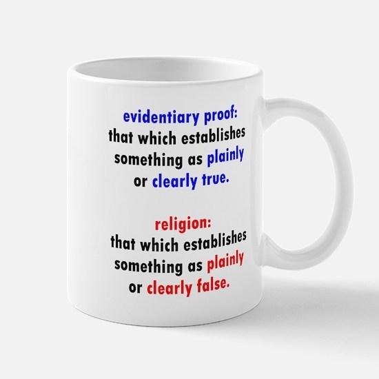 Evidentiary Proof Mugs