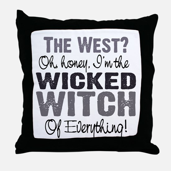 Wicked Witch of Everything G Throw Pillow