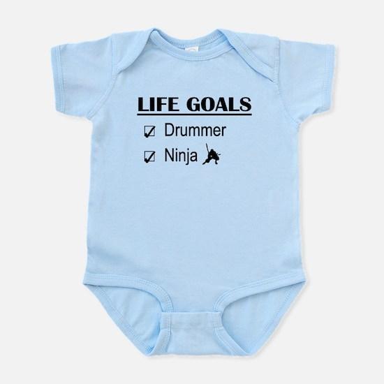 Drummer Ninja Life Goals Infant Bodysuit