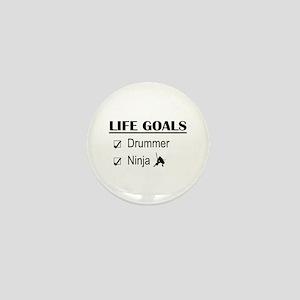 Drummer Ninja Life Goals Mini Button