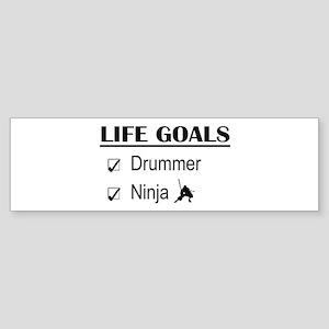 Drummer Ninja Life Goals Sticker (Bumper)