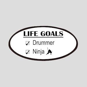 Drummer Ninja Life Goals Patches