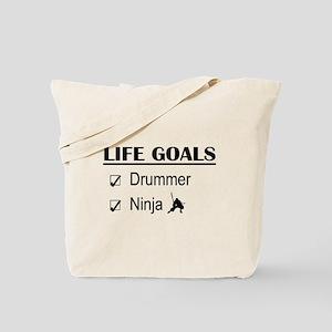 Drummer Ninja Life Goals Tote Bag