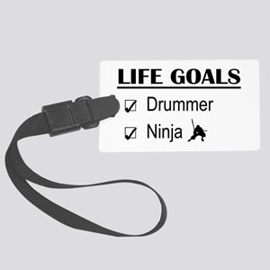 Drummer Ninja Life Goals Large Luggage Tag