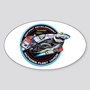 STAR TREK DS9 Logo Sticker (Oval)