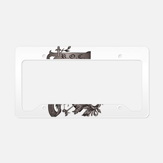 grunge logo License Plate Holder