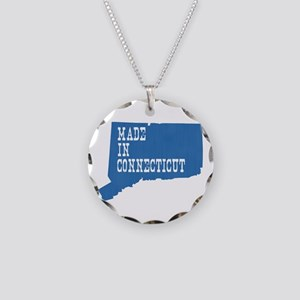 Made In Connecticut Necklace Circle Charm