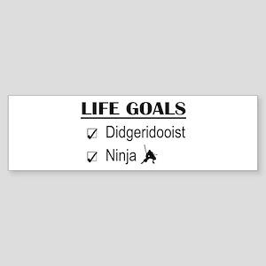 Didgeridooist Ninja Life Goals Sticker (Bumper)
