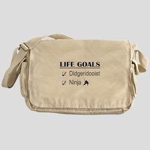 Didgeridooist Ninja Life Goals Messenger Bag