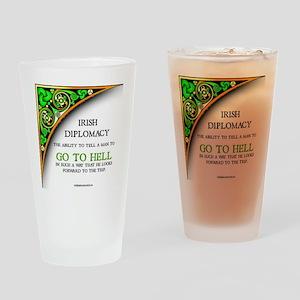 Irish diplomacy Drinking Glass