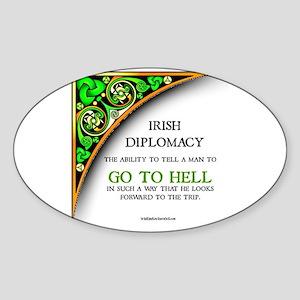 Irish diplomacy Sticker