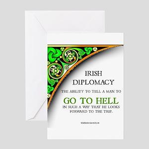 Irish diplomacy Greeting Cards