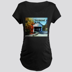 White Covered Bridge Colorful Autumn Vermont Mater