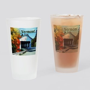 White Covered Bridge Colorful Autumn Vermont Drink