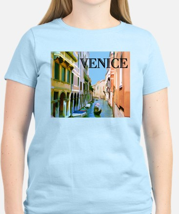 Gondolier in Canal in Venice T-Shirt