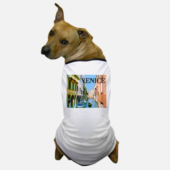 Gondolier in Canal in Venice Dog T-Shirt