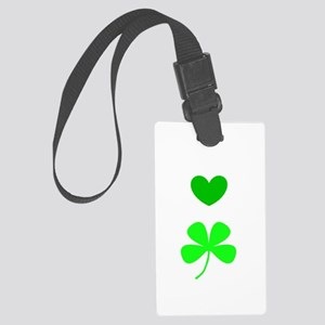 Hearts For Clovers Lover 312 Large Luggage Tag