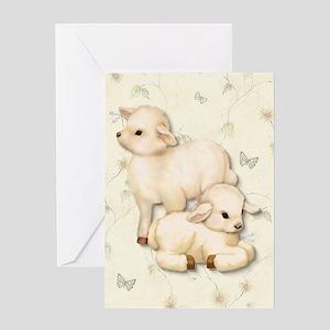 Lamb Pair Greeting Card