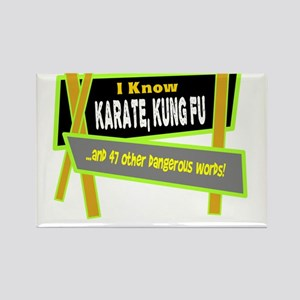 I Know Karate/t-shirt Magnets