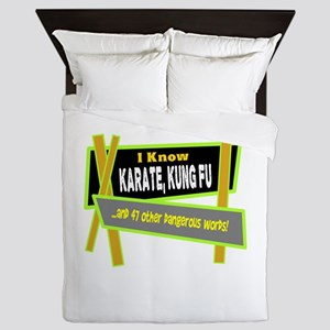I Know Karate/t-shirt Queen Duvet