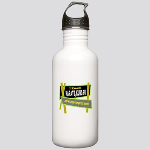 I Know Karate/t-shirt Water Bottle