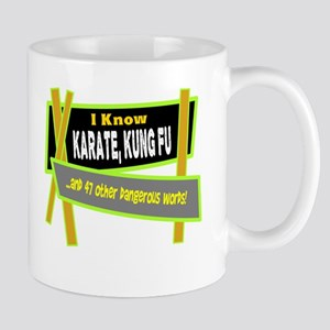 I Know Karate/t-shirt Mugs