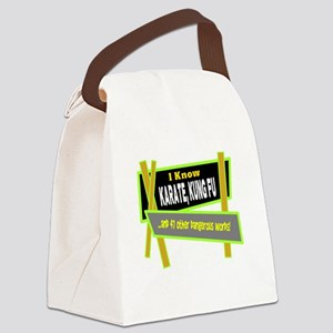 I Know Karate/t-shirt Canvas Lunch Bag