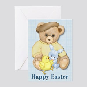 Easter Teddy Boy Greeting Card