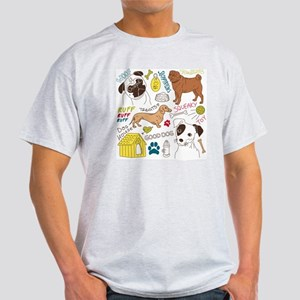 Dogs Colored P Light T-Shirt