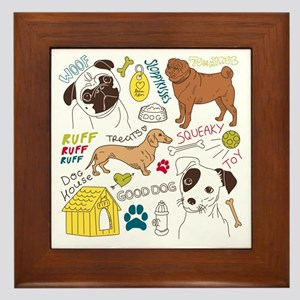 Dogs Colored P Framed Tile