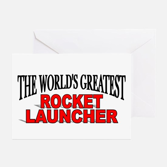 """""""The World's Greatest Rocket Launcher"""" Greeting Ca"""