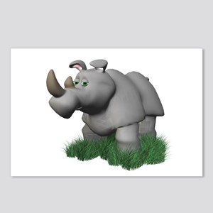 3D Rhino in the Grass Postcards (Package of 8)
