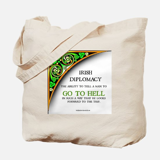IRISH DIPLOMACY Tote Bag