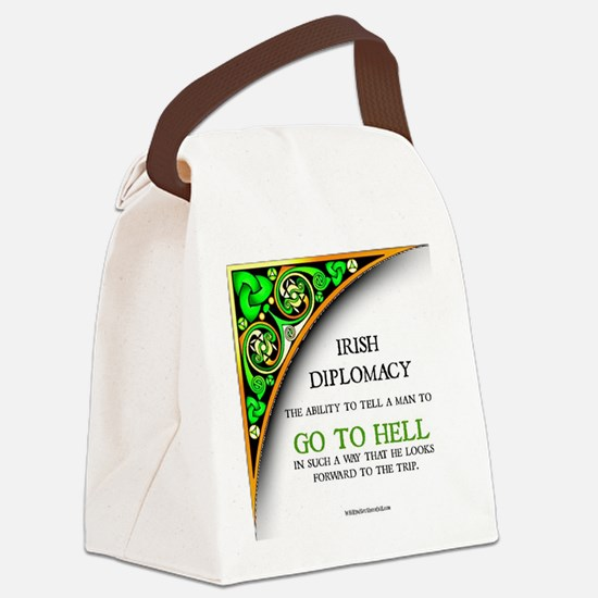 IRISH DIPLOMACY Canvas Lunch Bag