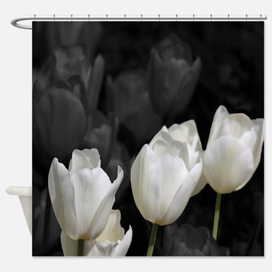 White Tulip Shower Curtain.png Shower Curtain