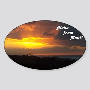 Maui Sunset from Plantation4 Sticker