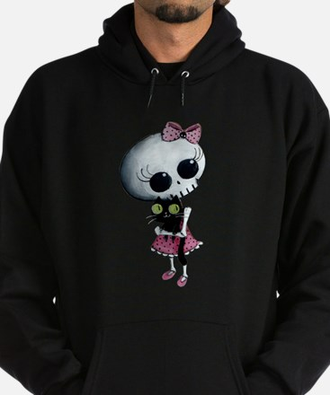 Little Miss Death with black cat Hoodie