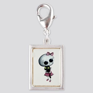 Little Miss Death With Black Silver Portrait Charm