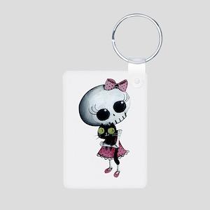 Little Miss Death With Aluminum Photo Keychain