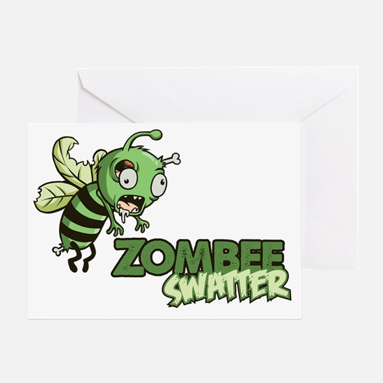 Zombee Swatter Greeting Card