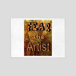 FEAR THE ARTIST 5'x7'Area Rug