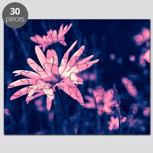 Pink dreamy daisies Puzzle