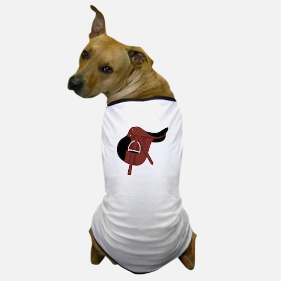 English Hunter Horseback Riding Saddle Dog T-Shirt