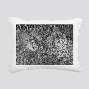 We're All Mad Here Rectangular Canvas Pillow