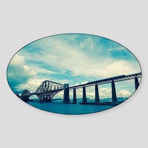 Forth railway bridge near Edinburgh Sticker (Oval)
