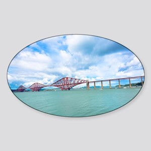 Forth railway bridge near Edinburgh Sticker (Oval)