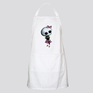 Little Miss Death with black cat Apron